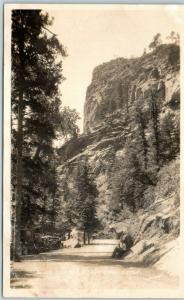 Colorado Springs CO RPPC Photo Postcard Point Lookout, South Cheyenne Canon