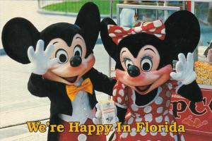 Florida Mickey Mouse & Minnie Mouse We're Happy In Florida