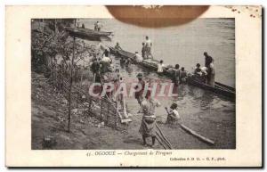 Africa - Africa - Gabon - Ogooue - Change Canoes - Old Postcard