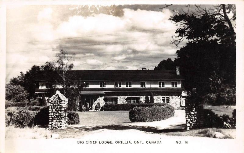 E26/ Orillia Ontario Canada Real Photo RPPC Postcard c1930s Big Chief Lodge