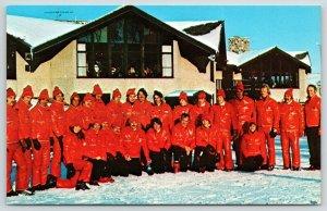 Slinger Wisconsin~Ray Stemper Ski School~Teachers in Slick Red Suits~1960s