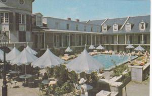 The sun-splashed pool of the Royal Sonesta Hotel,   New Orleans,  Louisiana, ...