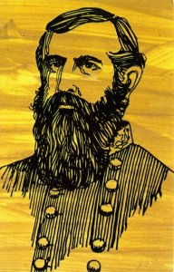 Art Portrait Postcard, General John C. Pemberton, USA Confederate Forces GN4
