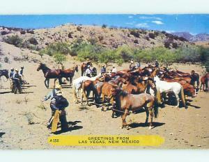 Unused Pre-1980 Western COWBOYS WITH HORSES Las Vegas Nevada NV hn1979