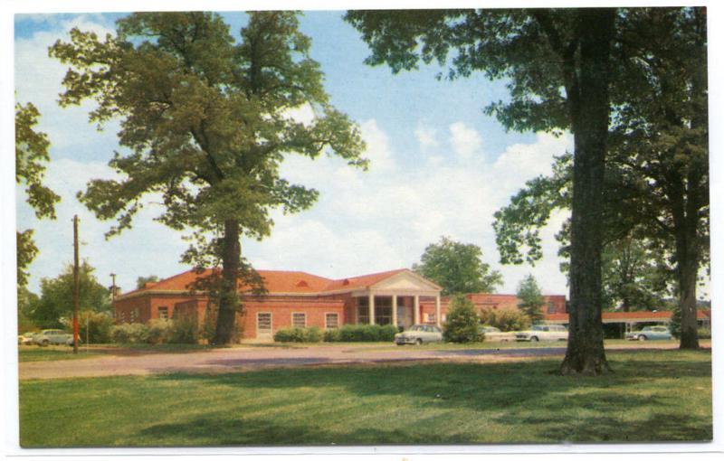 Alumni House University Mississippi Oxford MS 1960s postcard