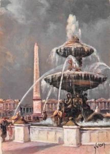 France Paris en Flanant, Place de la Concorde Fountain Square