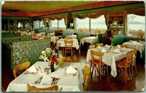 1950s Seattle, Washington Postcard CRAWFORD'S SEA GRILL Restaurant Interior View