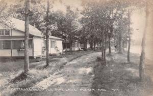 Perham Minnesota~Cottages on Little Pine Lake~Dirt Road~1922 Real Photo~RPPC