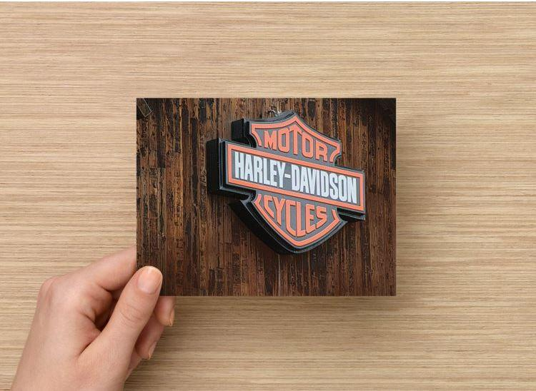 Single (1)Fine Art Photography Postcard Harley Davidson Sign in West Jordan Utah
