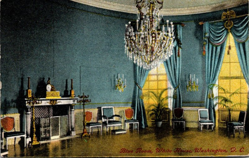 Washington D C White House The Blue Room 1916