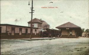 Oakland ME RR Train Station Depot c1905 Postcard