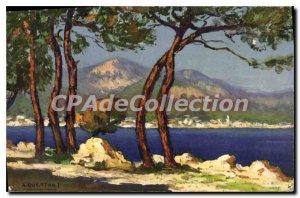 Postcard View Of Old Menton Cap Martin