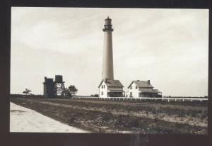 CAPE MAY LIGHTHOUSE CAPE MAY NEW JERSEY N.J. B&W POSTCARD LIGHT