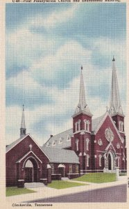 CLARKSVILLE, Tennessee, 1930-1940's; First Presbyterian Church And Educationa...