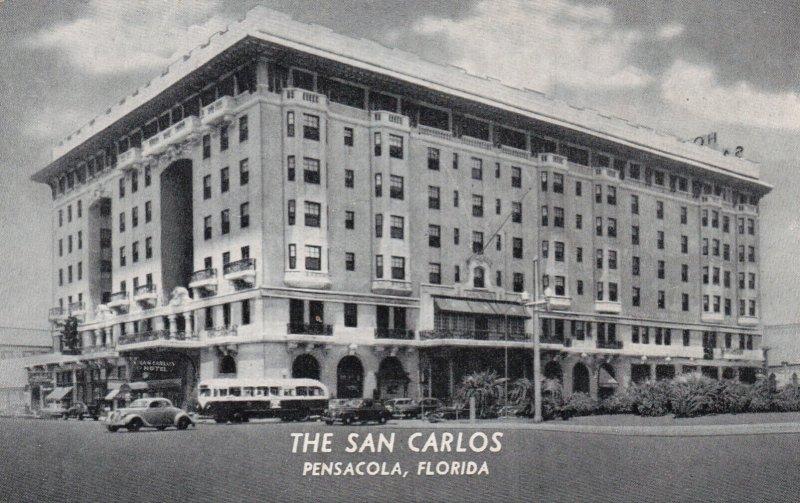 Florida Pensacola  The San Carlos Hotel 1952 Curteich
