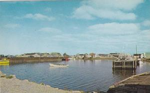 A view of Cheticamp Harbour, Cabot Trail, Cape Breton, Nova Scotia,  Canada, ...