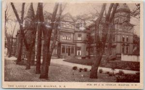 Halifax, Nova Scotia N.S. Canada Postcard THE LADIES' COLLEGE Building View