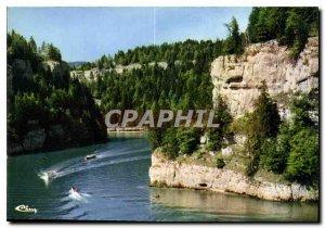 Modern Postcard The beautiful sites of Doubs Franche Comte Doubs Basins Rocks...