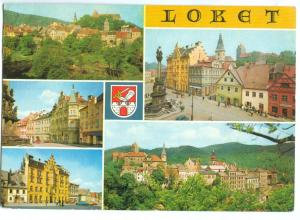 Czech Republic, LOKET, multi view, used Postcard