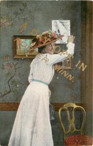 Porter Minnesota~Victorian Lady Takes Day Off Calendar~White Dress~Hat~1909