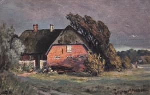 TUCK #890; Moorlandbilder, Family Residence under an overcast sky, 1900-10s