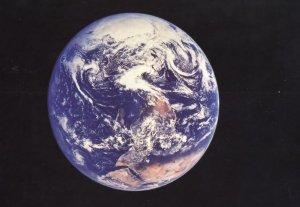 Planet Earth 1970s Photo From Space NASA Apollo 17 Postcard
