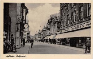 Netherlands Apeldoorn, Hoofdstraat, bicycles, animated road street