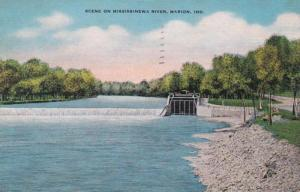 Indiana Marion Scene On The Mississinewa River 1946