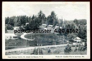 4162 - ST. JOSEPH DE BEAUCE Quebec Postcard 1933 Cape Callway Cabins
