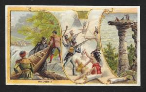 VICTORIAN TRADE CARD Arbuckle Coffee Wisconsin Scenes