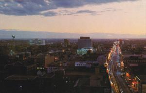 Sunset Over EDMONTON, Alberta, Canada, 40-60's