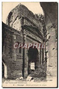 Old Postcard The Orange Vaucluse Illustree main entrance of the circus