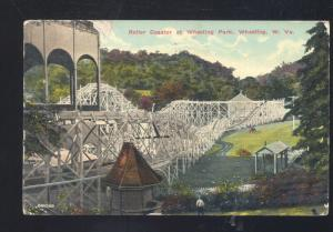 WHEELING WEST VIRGINIA WHEELING AMUSEMENT PARK ROLLER COASTER POSTCARD