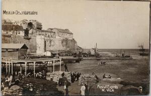 Melilla Desembarcadero Postal Expres M. Vila Unused Real Photo Postcard E61