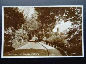 Hampshire ANDOVER Cricklade THE FOLLY shows Horse Riders c1950's RP Postcard