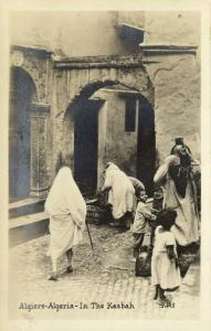 algeria, ALGIERS, Native Women in the Kasbah (1930s) RPPC