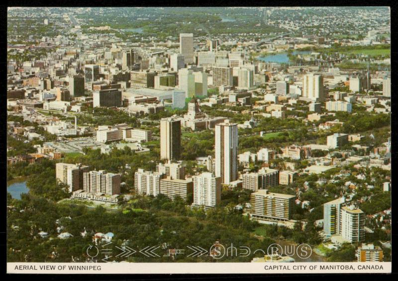 Aerial View of Winnipeg