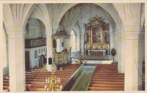 Interior Av Mora Kyrka, Dalarna, Sweden, 1900-1910s