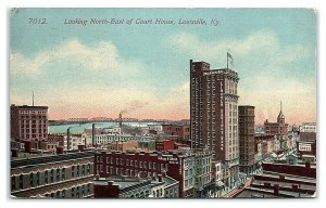 Looking Northeast of Courthouse, Louisville, KY Postcard *7C2