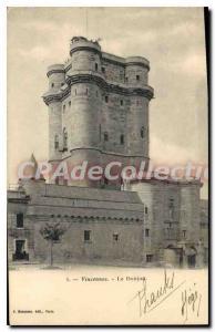 Old Postcard Vincennes Donjon