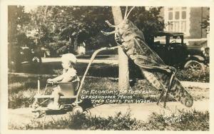 Photo Frank Conard Garden City Kansas Exaggeration Grasshopper baby nanny maid