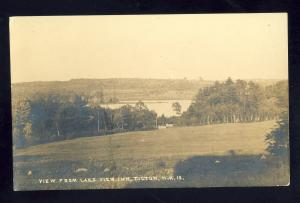 Tilton, New Hampshire/NH Postcard, View From Lake View Inn, RPPC, 1918!