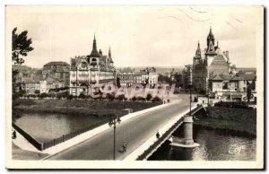 Old Postcard Mezieres Bridge Of Victory And Place De L & # 39hotel Town