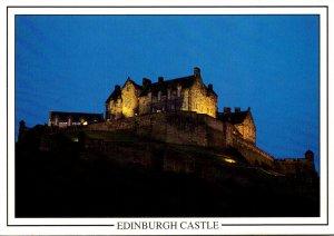 Scotland Edinburgh Castle At Night