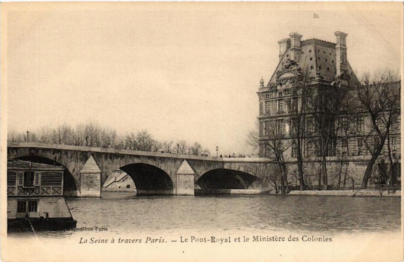 CPA PARIS (1e) Le Pont-Royal et le Ministere des Colonies (537341)