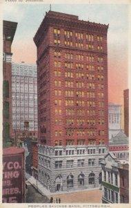 PITTSBURGH , Pennsylvania , 00-10s ; Peoples Savings Bank