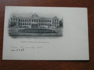 French Indo China Postcard Used UDB 1902 Saigon Government Palace