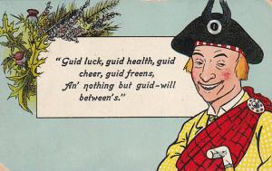 Scotsman Guid Luck , Guid health , Guild cheer, guild freens... . PU-1912