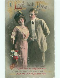 Divided-Back ROMANTIC COUPLE Great Postcard AA7605