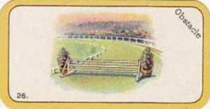 Carreras Vintage Cigarette Card Greyhound Racing No 26 Obstacle  1926